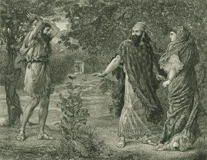 Jezebel y Ahab en el viñedo de Naboth