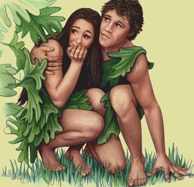 Adán y Eva se escondieron de Dios.