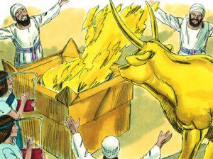 Manasés sacrificó a sus propios hijos al fuego en el valle de Ben-hinom, más tarde llamado Gehenna.