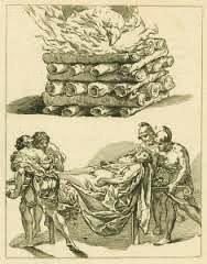 Las naciones paganas acostumbraban incinerar a los muertos.
